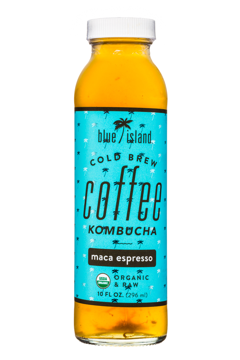 Blue Island Coffee: BlueIsland-ColdBrew-CoffeeKombucha-10oz-MacaEspresso-Front