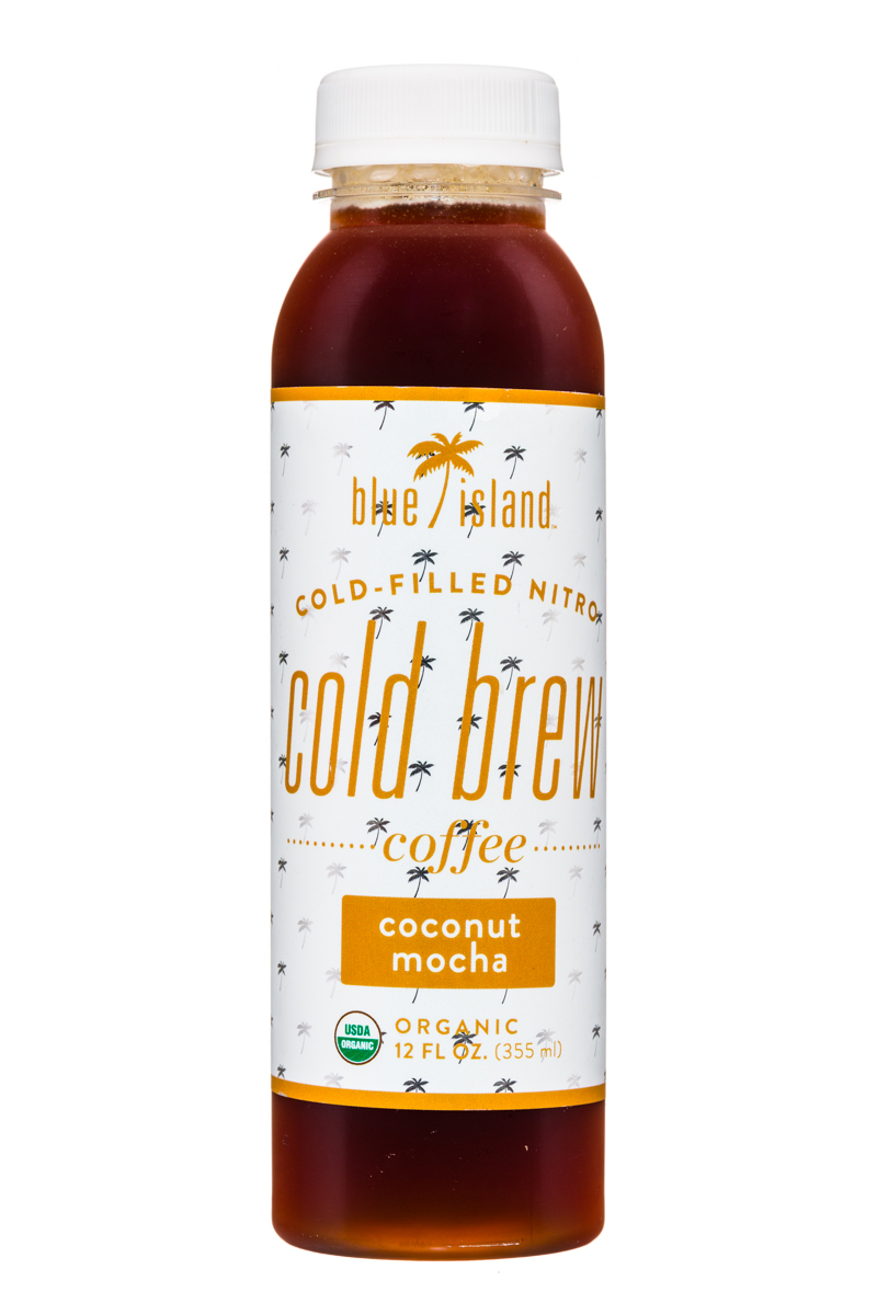 Blue Island Coffee: BlueIsland-ColdFilledNitro-ColdBrew-12oz-CoconutMocha-Front
