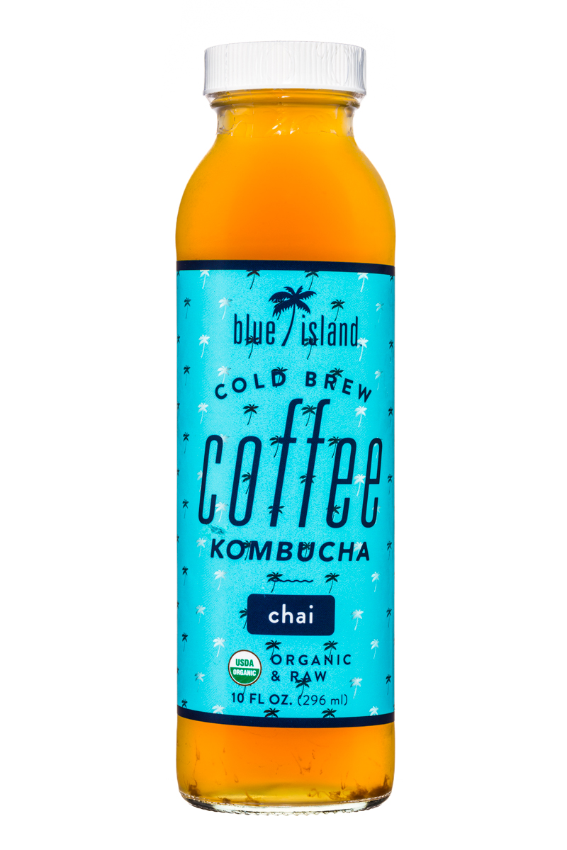 Blue Island Coffee: BlueIsland-ColdBrew-CoffeeKombucha-10oz-Chai-Front