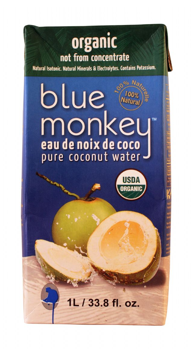 Blue Monkey Coconut Water: BlueMonkey OrganicLG Front