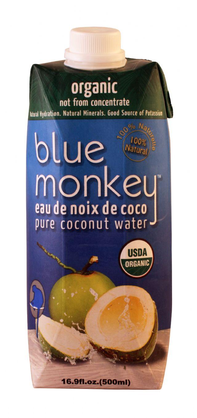 Blue Monkey Coconut Water: BlueDonkey Organic Front