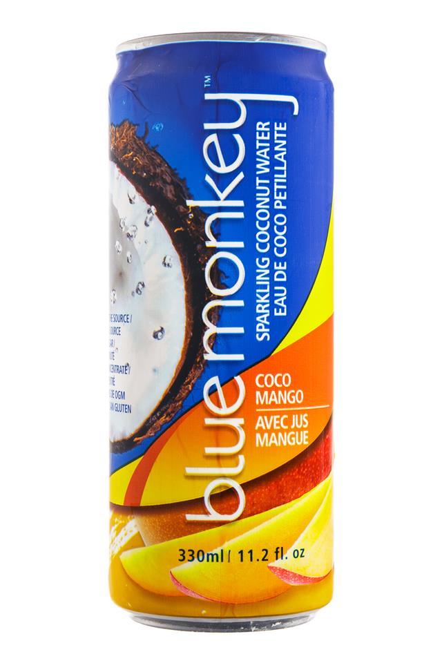Blue Monkey Coconut Water: BlueMonkey-SparkingCoconut-CocoMango-Front