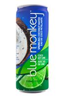 Blue Monkey Coconut Water: BlueMonkey-SparkingCoconut-CocoKeyLime-Front