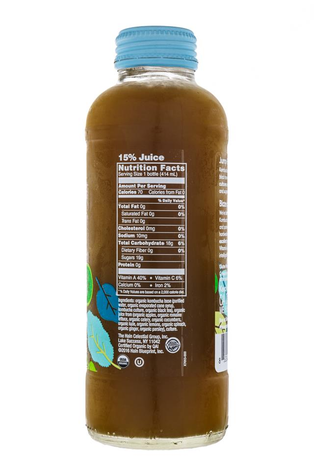 BluePrint Organic Kombucha: BluePrint-KaleALuYa-Facts