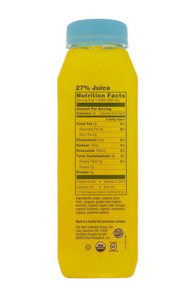BluePrint Raw Vinegar Drinks: BluePrint-TurmericTonic-Facts
