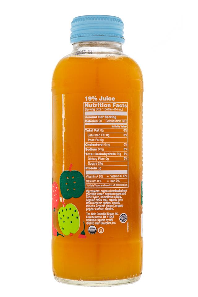 BluePrint Organic Kombucha: BluePrint-SweetHead-Facts