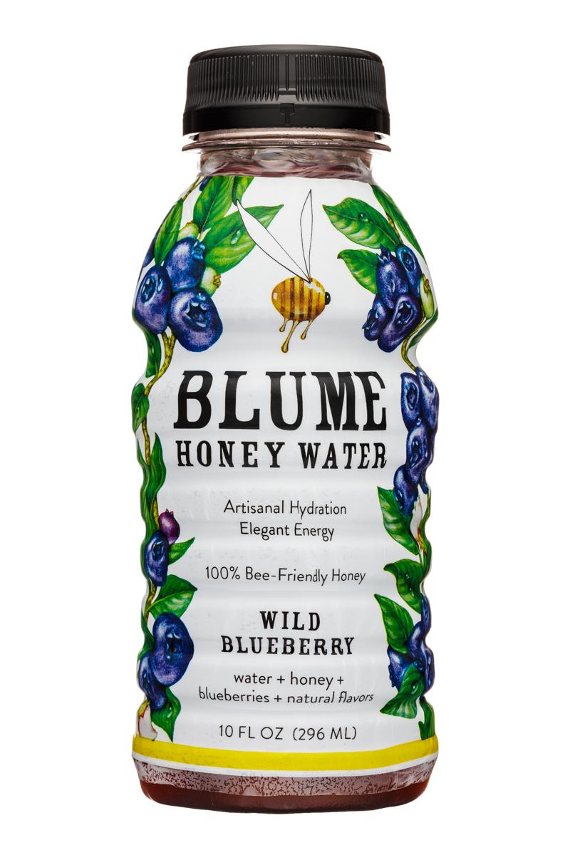 Blume Honey Water: Blume-10oz-HoneyWater-WildBlueb-Front