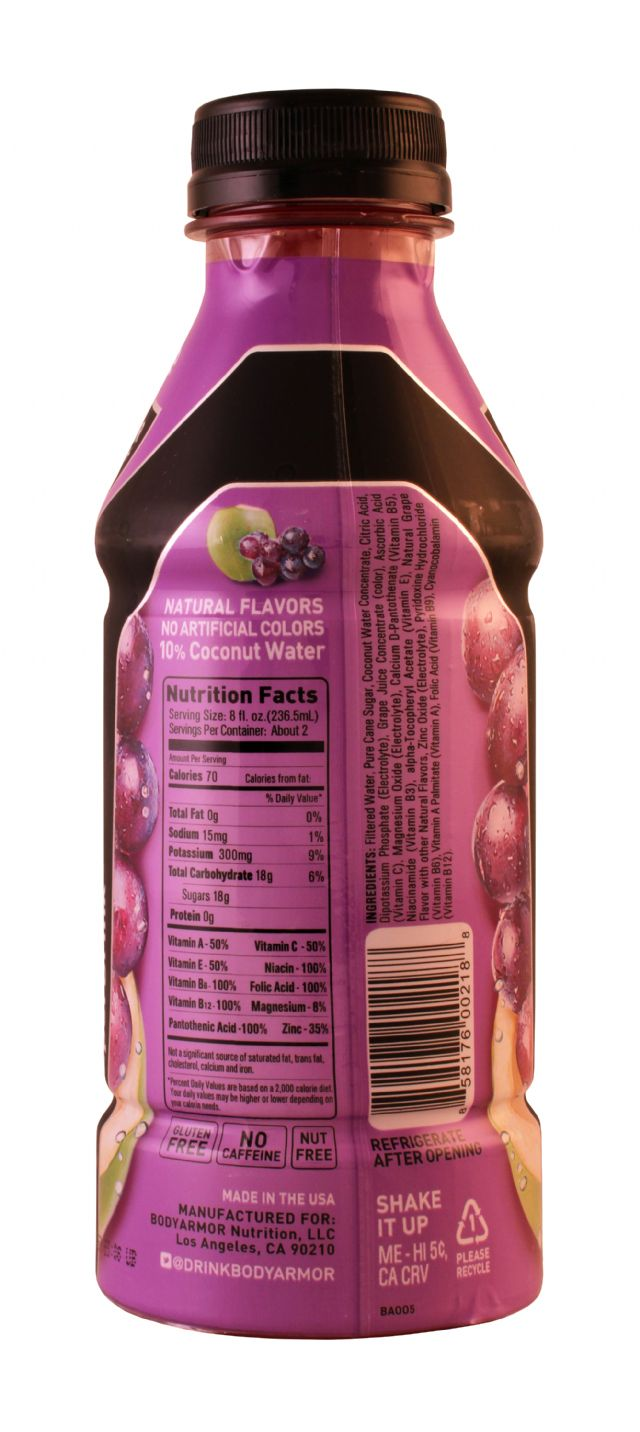 Body Armor: BodyArmor Grape Facts