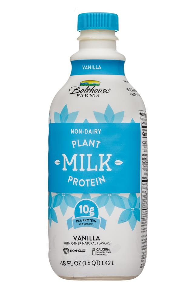 Bolthouse Farms Plant Protein Milk: BolthouseFarms-48oz-PlantMilkProtein-Vanilla-Front