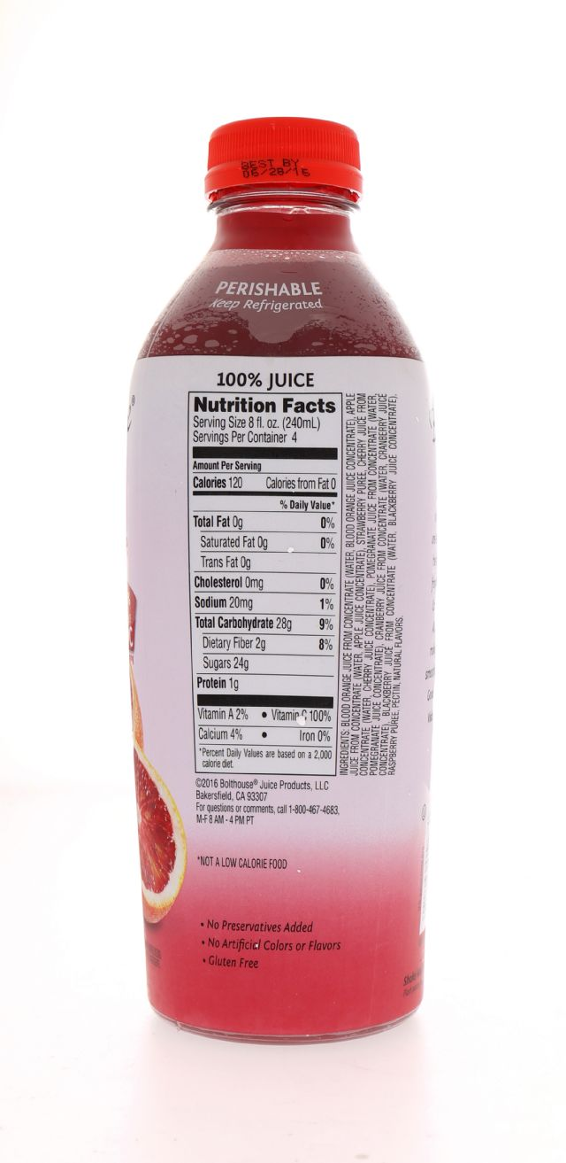 Bolthouse Farms: BF RaspBloodOrange Facts