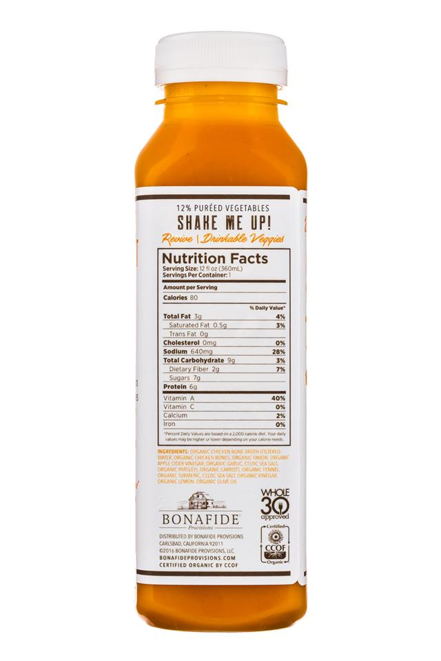 Bonafide Provisions: Bonafide-DrinkableVeggies-12oz-Revive-Facts
