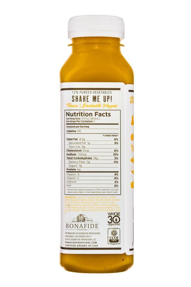 Bonafide Provisions: Bonafide-DrinkableVeggies-12oz-Thrive-Facts