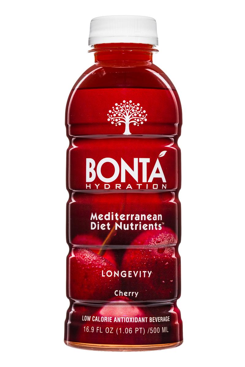 Bonta: BontaHydration-DietNutrients-17oz-Longevity-Cherry-Front