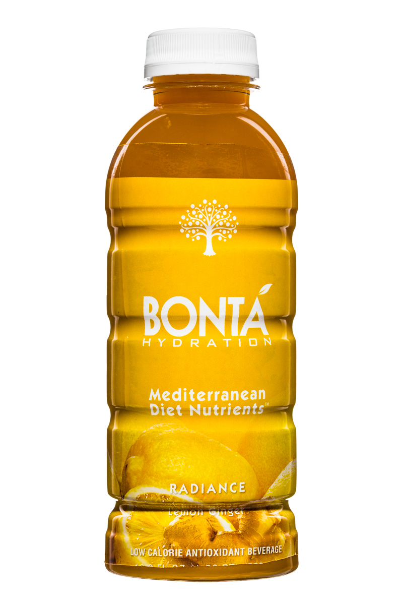 Bonta: BontaHydration-DietNutrients-17oz-Radiance-LemonGinger-Front