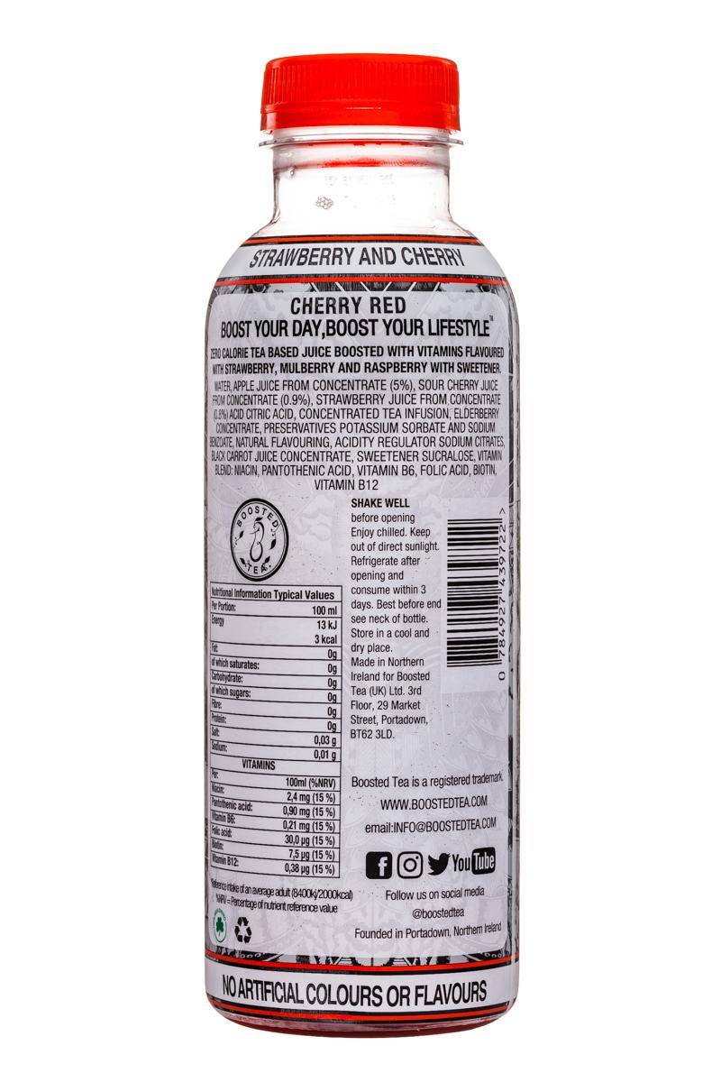 Boosted Tea: BoostedTea-VitaminTea-PureGreen-CherryRed-Facts