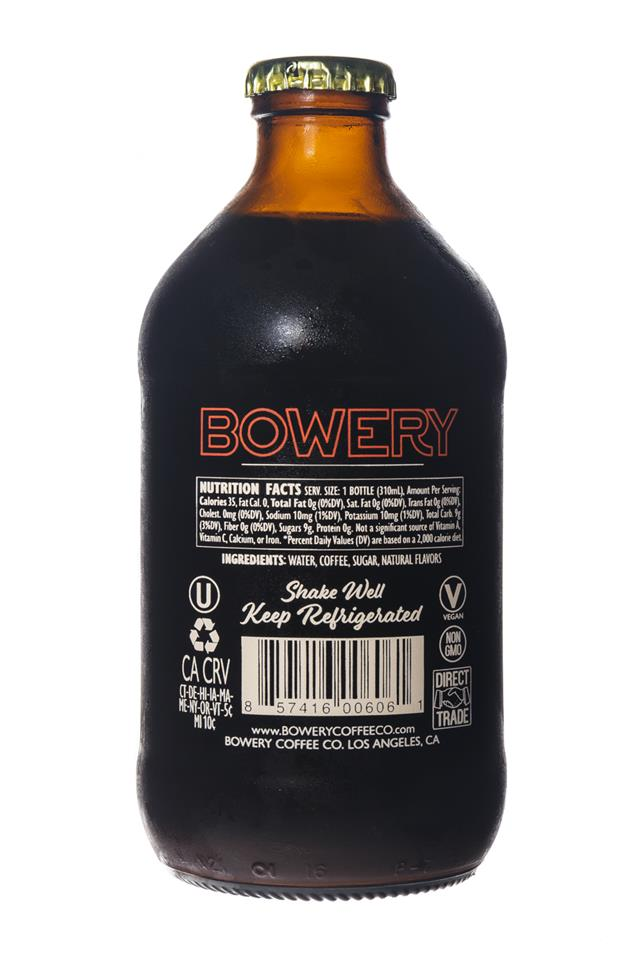 Bowery Coffee Co.: BoweryCoffee-ColdBrew-10oz-DirtyChai-Facts
