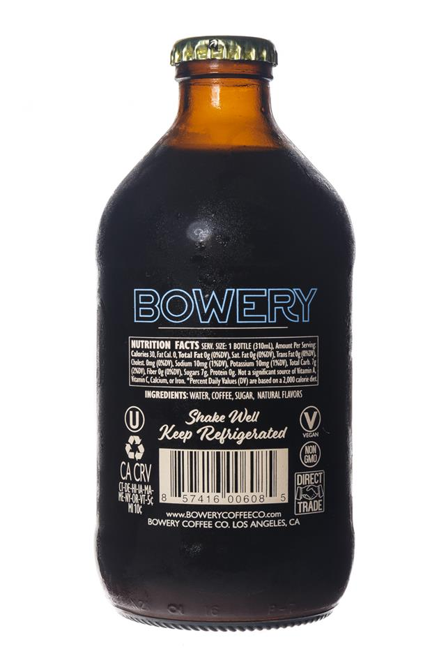 Bowery Coffee Co.: BoweryCoffee-ColdBrew-10oz-TahitianVanilla-Facts