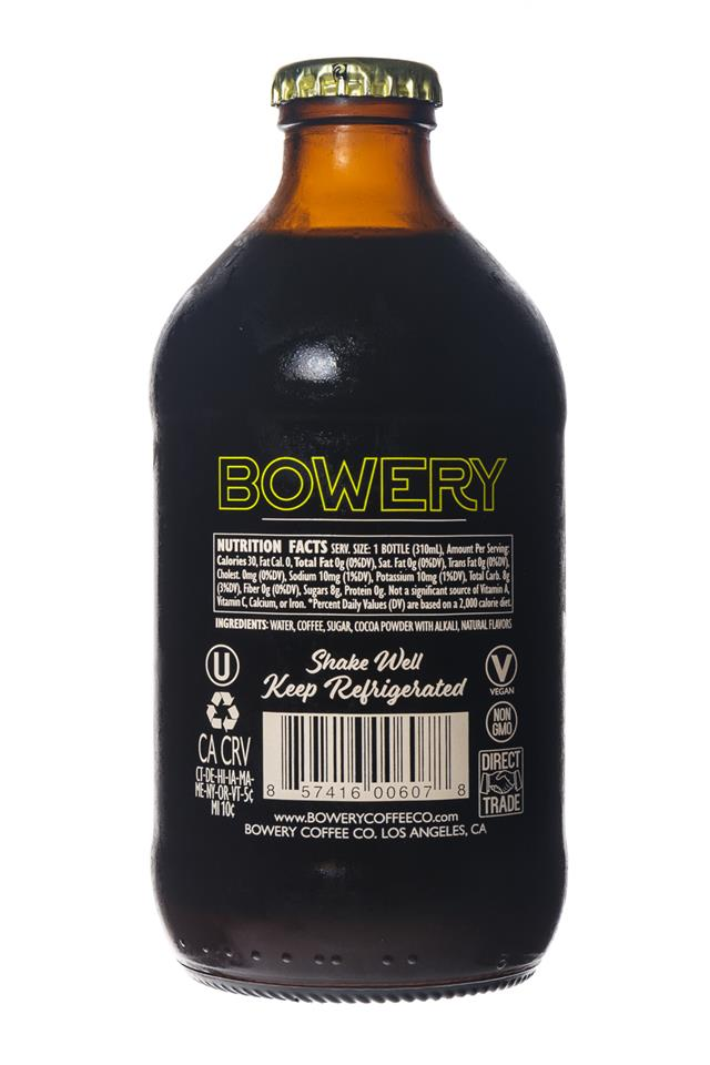 Bowery Coffee Co.: BoweryCoffee-ColdBrew-10oz-Cacao-Facts
