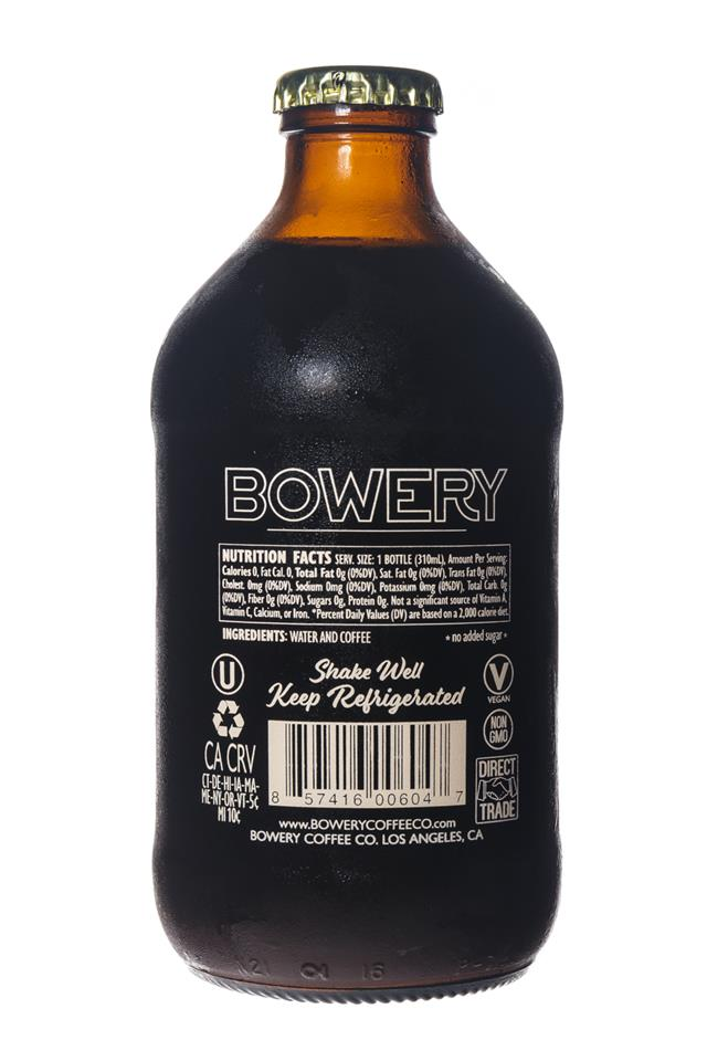 Bowery Coffee Co.: BoweryCoffee-ColdBrew-10oz-OG-Facts
