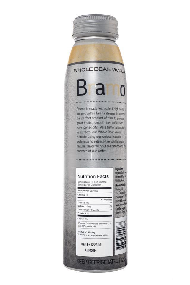 Bramo Ready to Drink: Bramo-ColdBrew-WholeBeanVanilla-Facts