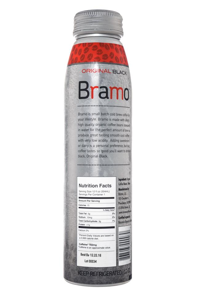 Bramo Ready to Drink: Bramo-ColdBrew-OriginalBlack-Facts