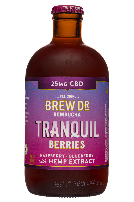 Brew Dr. Kombucha: BrewDr-12oz-2020-Kombucha-Tranquil-Berries-Front