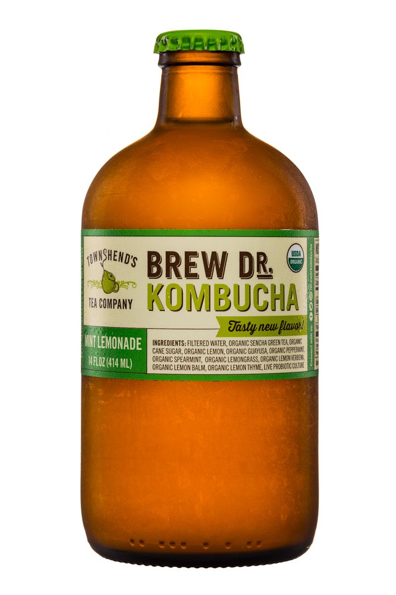 Brew Dr. Kombucha: Townhends-BrewDr-Kombucha-14oz-MintLemonade-Front