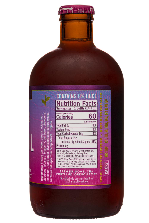 Brew Dr. Kombucha: BrewDr-12oz-2020-Kombucha-Tranquil-Berries-Facts