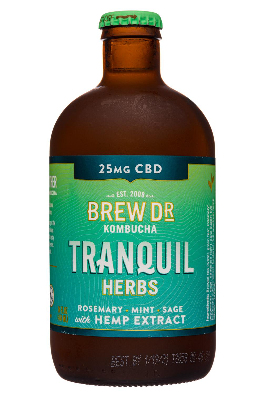 Brew Dr. Kombucha: BrewDr-12oz-2020-Kombucha-Tranquil-Herbs-Front