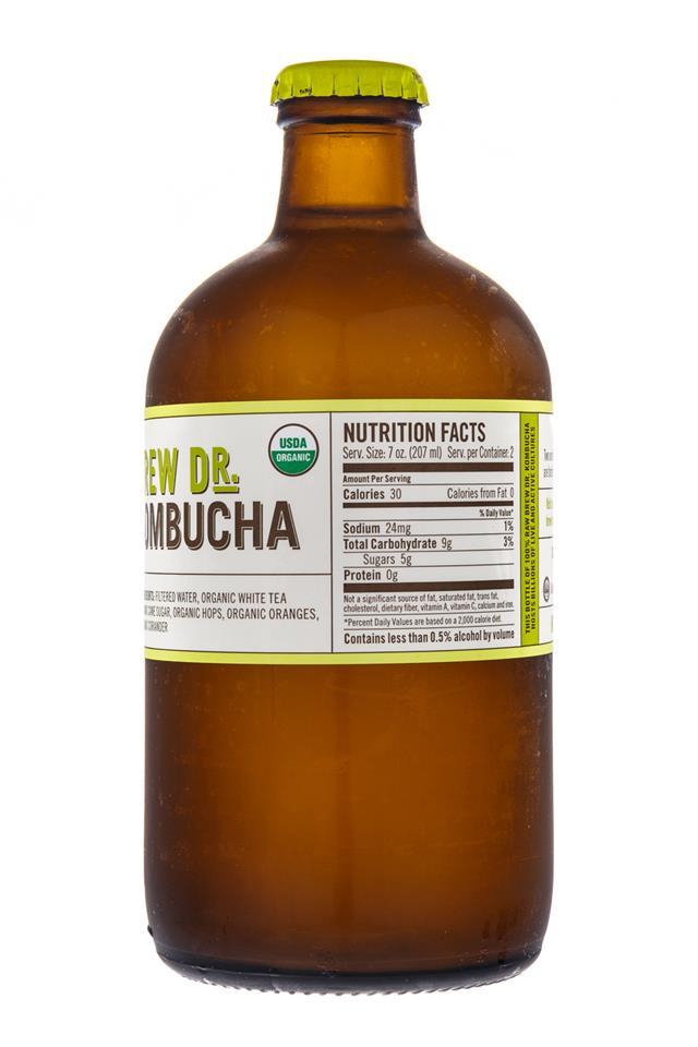 Brew Dr. Kombucha: TownsHendTea-BrewDr-CitrusHops-Facts
