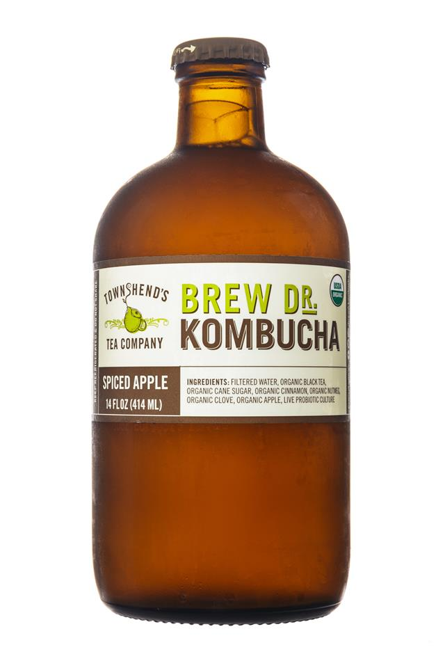 Brew Dr. Kombucha: Townhends-BrewDr-Kombucha-SpicedApple-Front