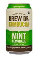 Brew Dr. Kombucha: BrewDr-12ozCan-MintLemonade-Front