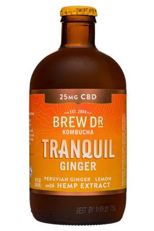 Brew Dr. Kombucha: BrewDr-12oz-2020-Kombucha-Tranquil-Ginger-Front