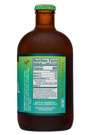 Brew Dr. Kombucha: BrewDr-12oz-2020-Kombucha-Tranquil-Herbs-Facts