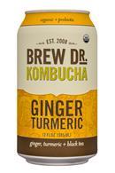 Brew Dr. Kombucha: BrewDr-12ozCan-GingerTurmeric-Front