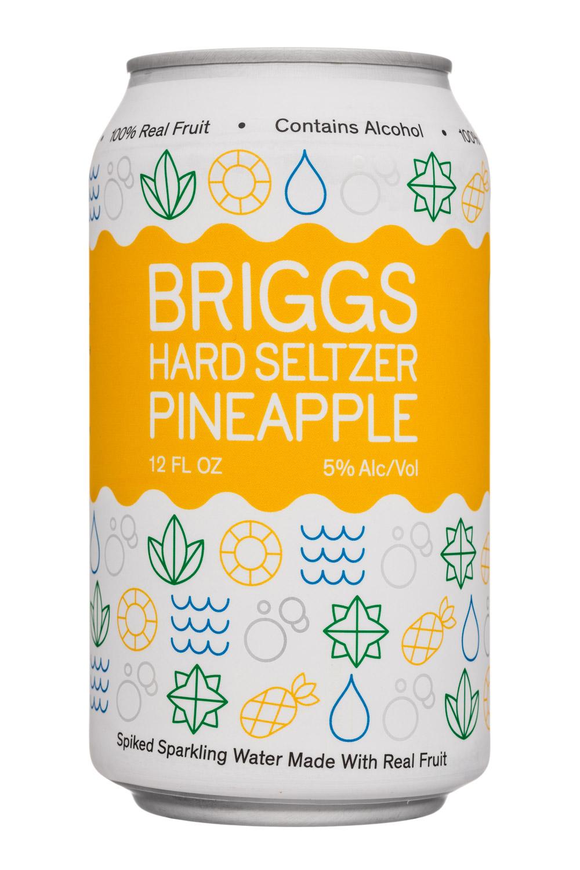 Briggs: Briggs-12oz-HardSeltzer-Pineapple-Front