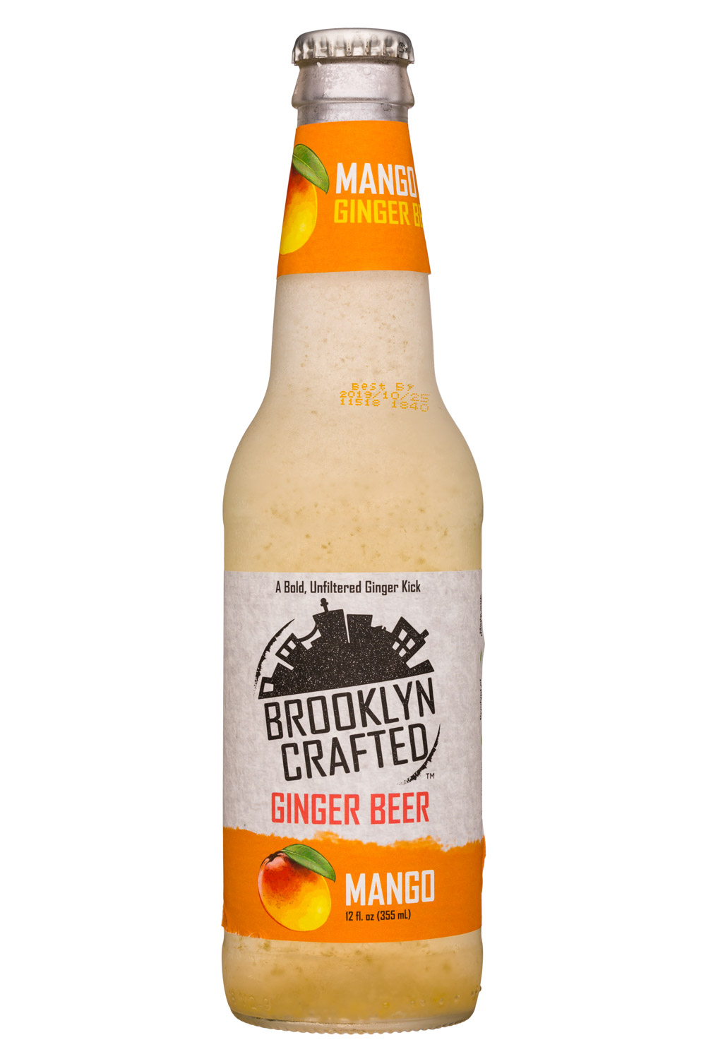 Brooklyn Crafted: BrooklynCrafted-12oz-GingerBeer-Mango-Front
