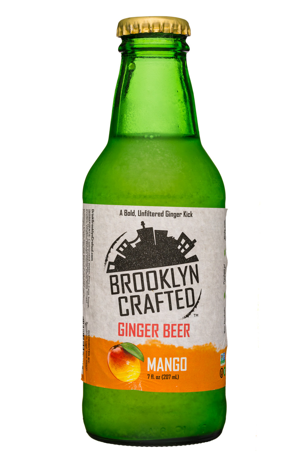 Brooklyn Crafted: BrooklynCrafted-7oz-GingerBeer-Mango-Front
