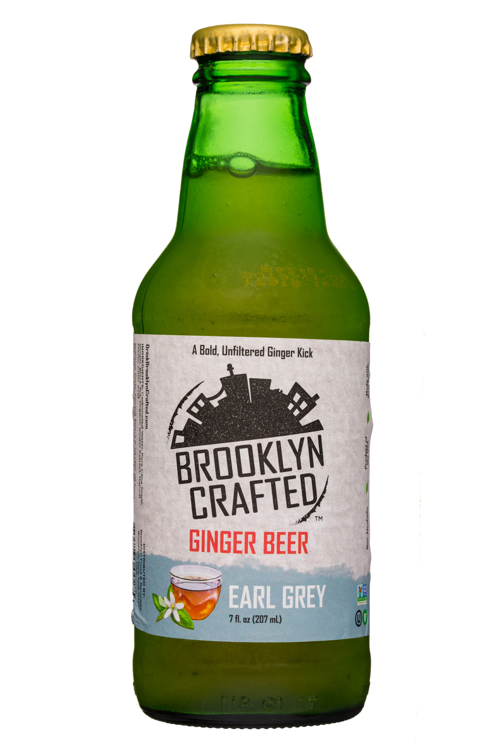 Brooklyn Crafted: BrooklynCrafted-7oz-GingerBeer-EarlGrey-Front