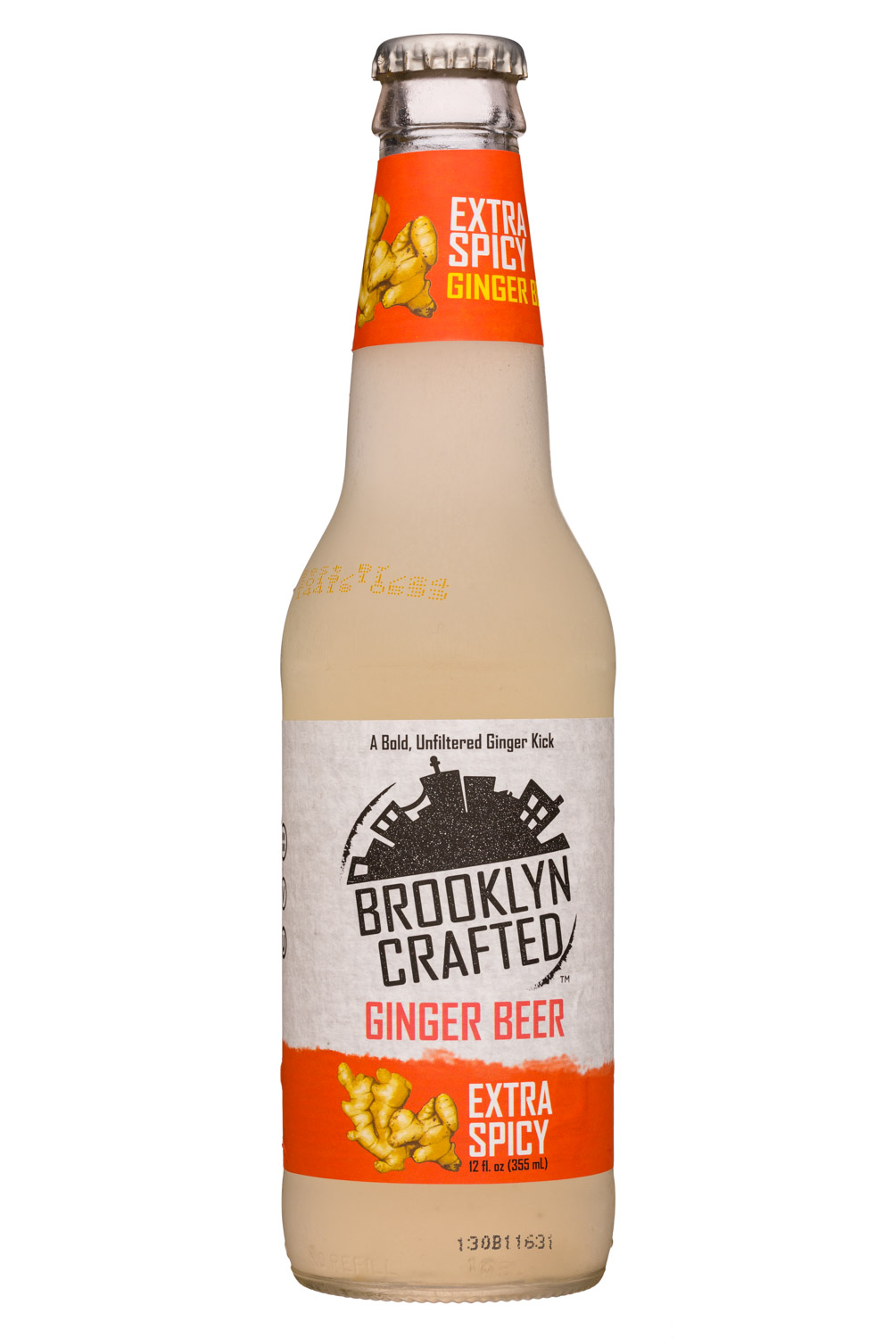 Brooklyn Crafted: BrooklynCrafted-12oz-GingerBeer-ExtraSpicy-Front