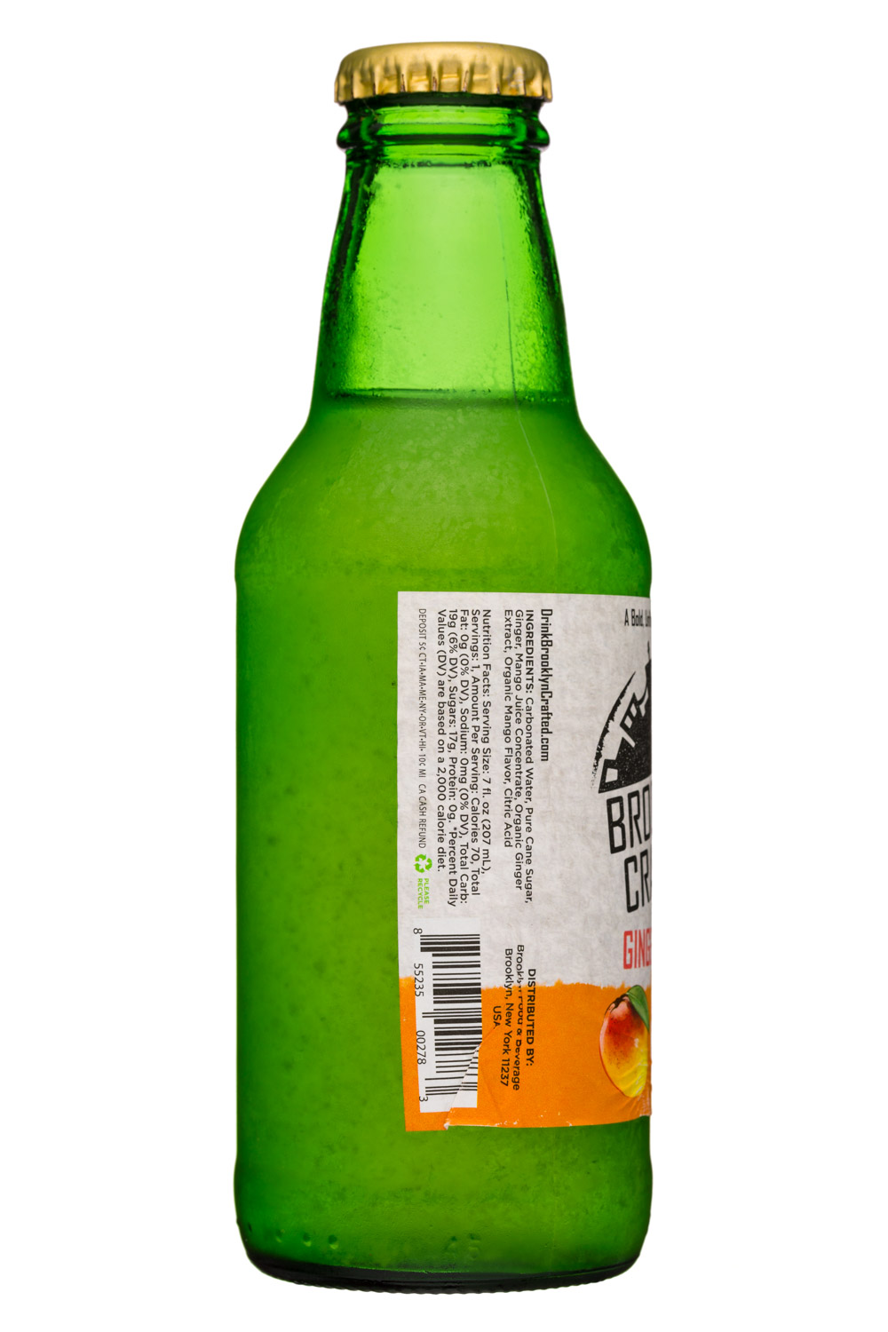 Brooklyn Crafted: BrooklynCrafted-7oz-GingerBeer-Mango-Facts