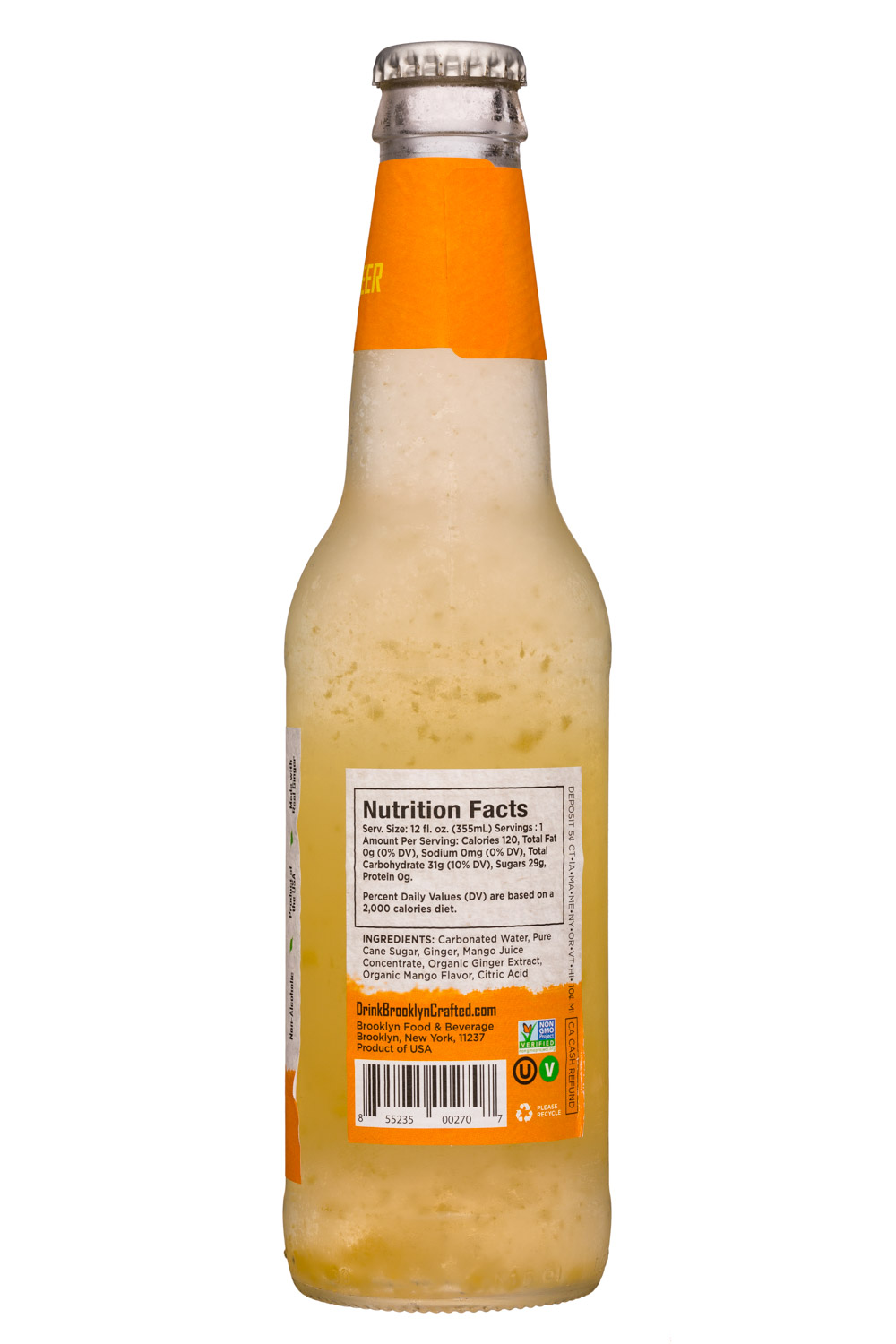 Brooklyn Crafted: BrooklynCrafted-12oz-GingerBeer-Mango-Facts