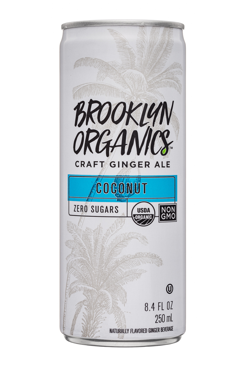 Brooklyn Organics Craft Ginger Ale: BrooklynOrganics-CraftGingerAle-8oz-Coconut-Front