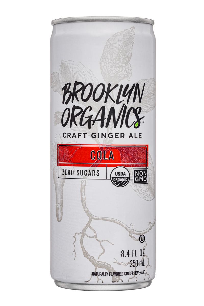 Brooklyn Organics Craft Ginger Ale: BrooklynOrganics-CraftGingerAle-8oz-Cola-Front