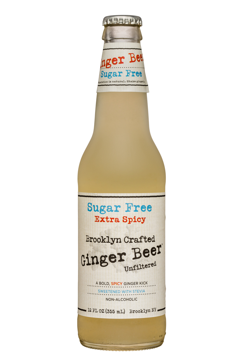 Brooklyn Organics Craft Ginger Ale: BruceCost-12oz-GingerBeer-SugarFree-ExtraSpicy-Front