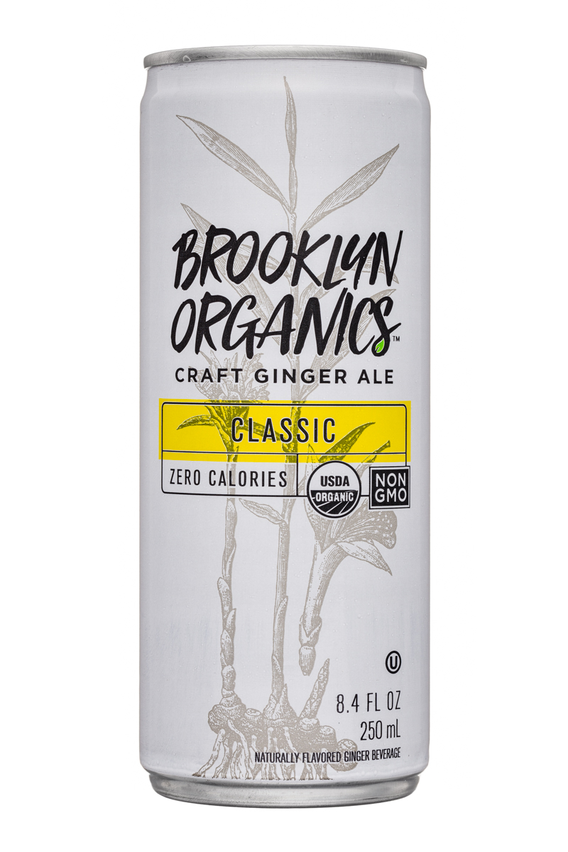 Brooklyn Organics Craft Ginger Ale: BrooklynOrganics-CraftGingerAle-8oz-Classic-Front