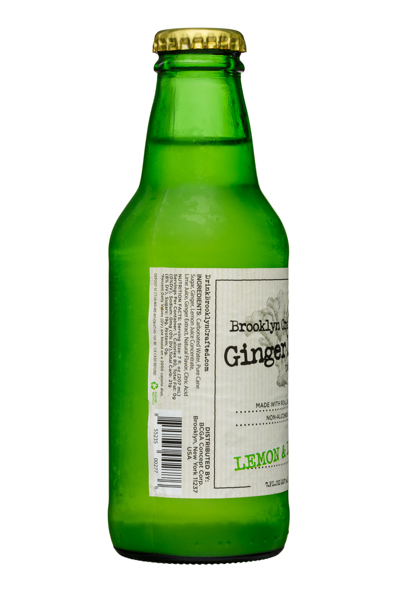 Brooklyn Organics Craft Ginger Ale: BruceCost-7oz-GingerBeer-LemonLime-Facts