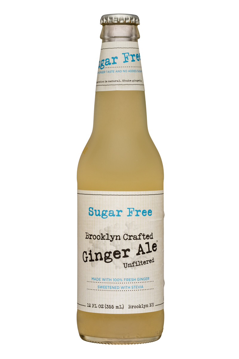 Brooklyn Organics Craft Ginger Ale: BruceCost-12oz-GingerAle-SugarFree-Front