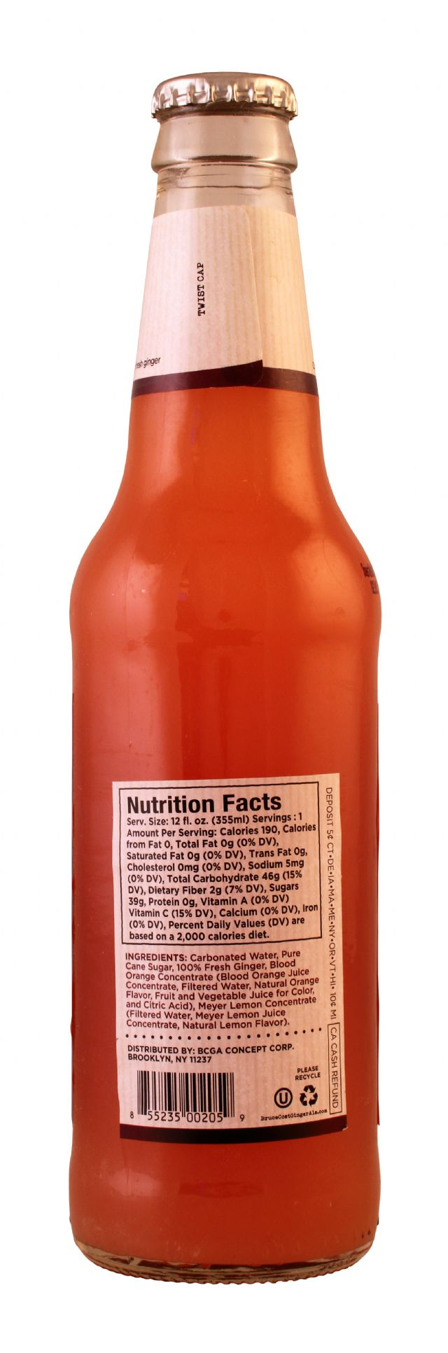 Fresh Ginger Ginger Ale by Bruce Cost: BruceCost BloodOrange Facts