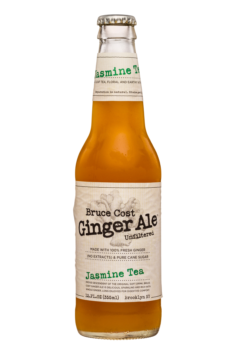 Fresh Ginger Ginger Ale by Bruce Cost: BruceCost-GingerAle-12oz-JasmineTea-Front